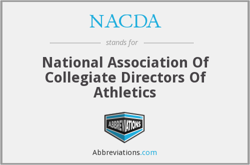 What does NACDA stand for?