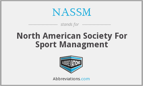 NASSM - North American Society For Sport Managment