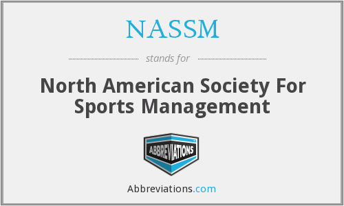 NASSM - North American Society For Sports Management