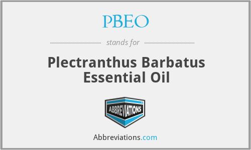 PBEO - Plectranthus Barbatus Essential Oil