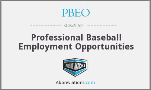 PBEO - Professional Baseball Employment Opportunities