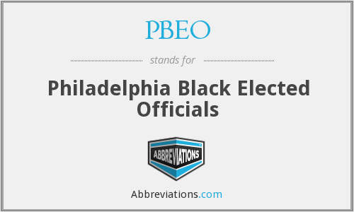 PBEO - Philadelphia Black Elected Officials