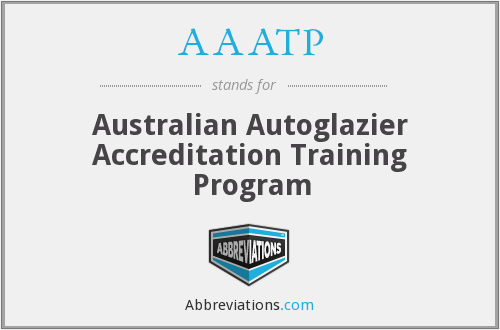 AAATP - Australian Autoglazier Accreditation Training Program
