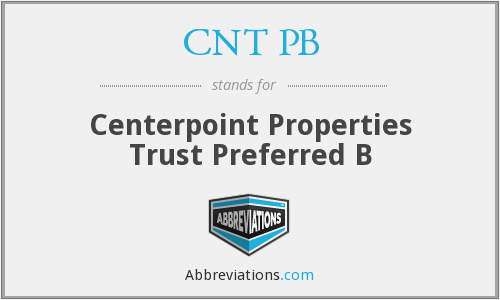 What does CNT PB stand for?