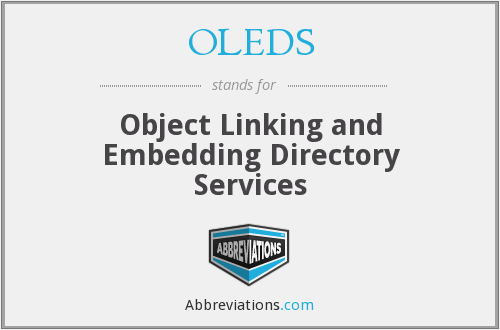 OLEDS - Object Linking and Embedding Directory Services