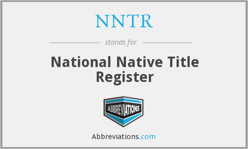 NNTR - National Native Title Register