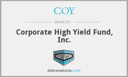 COY - Corporate High Yield Fund, Inc.