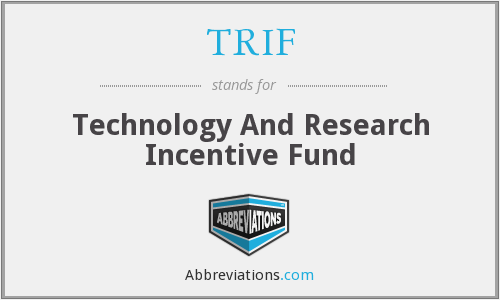 TRIF - Technology And Research Incentive Fund