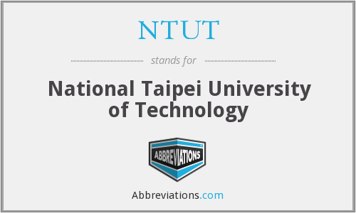 What does NTUT stand for?