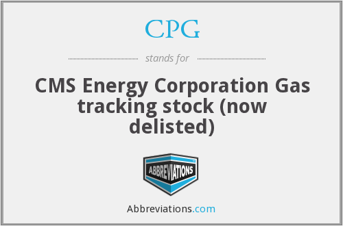 CPG - CMS Energy Corporation Gas tracking stock (now delisted)