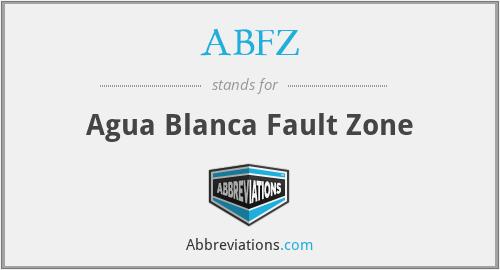 ABFZ - Agua Blanca Fault Zone