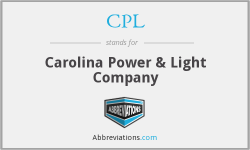 CPL - Carolina Power & Light Company
