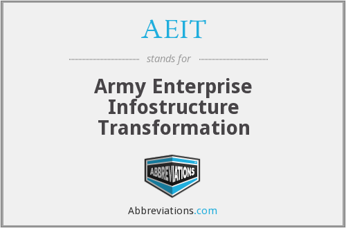 AEIT - Army Enterprise Infostructure Transformation