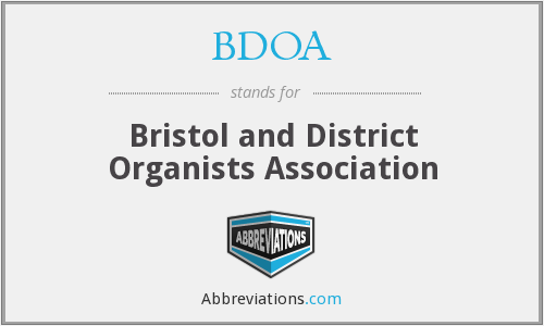 BDOA - Bristol and District Organists Association