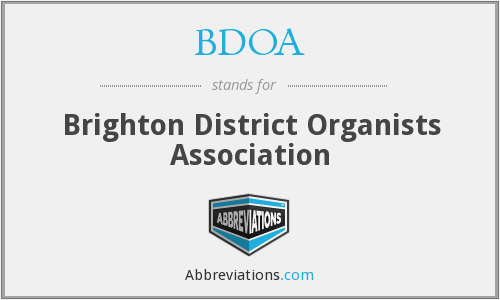 BDOA - Brighton District Organists Association
