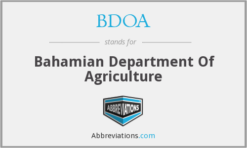 What does BDOA stand for?