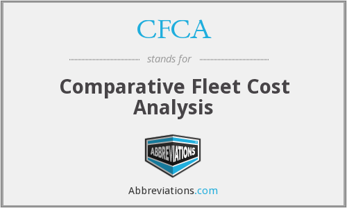 CFCA - Comparative Fleet Cost Analysis