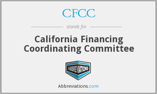 CFCC - California Financing Coordinating Committee