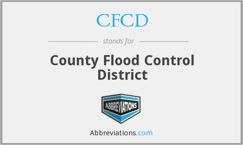 CFCD - County Flood Control District