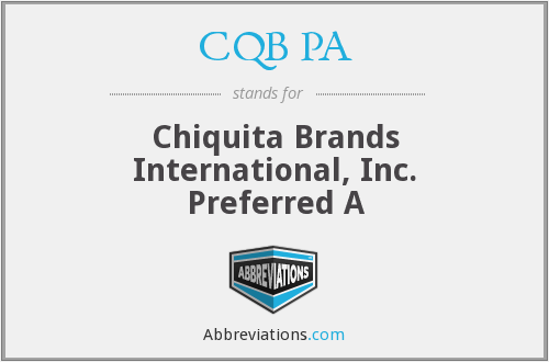 What does CQB PA stand for?