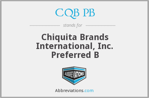 What does CQB PB stand for?