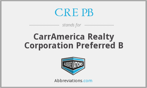 What does CRE PB stand for?