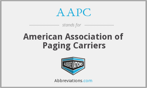 AAPC - American Association of Paging Carriers