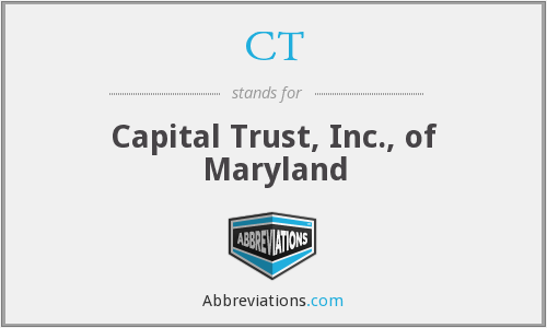 CT - Capital Trust, Inc., of Maryland