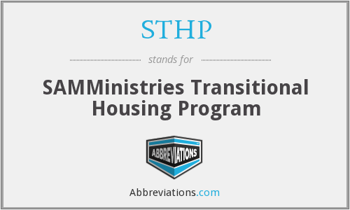 STHP - SAMMinistries Transitional Housing Program