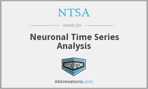 NTSA - Neuronal Time Series Analysis