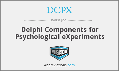 DCPX - Delphi Components for Psychological eXperiments