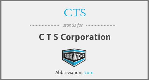 CTS - C T S Corporation