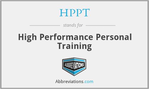 HPPT - High Performance Personal Training