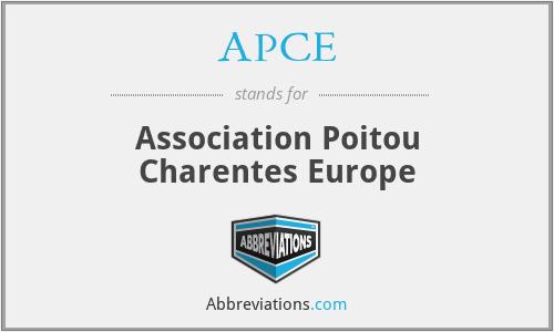 APCE - Association Poitou Charentes Europe