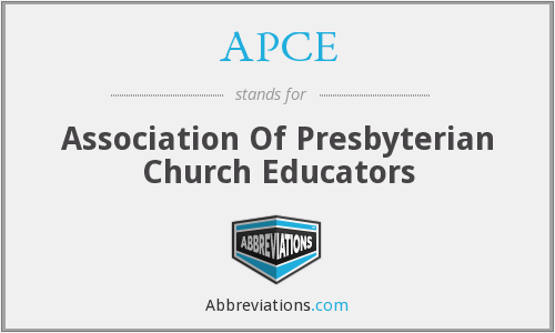 APCE - Association Of Presbyterian Church Educators