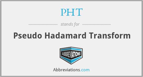 PHT - Pseudo Hadamard Transform