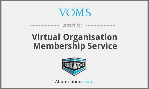 VOMS - Virtual Organisation Membership Service