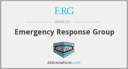What does ERG stand for?