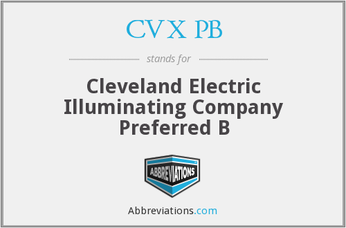 CVX PB - Cleveland Electric Illuminating Company Preferred B
