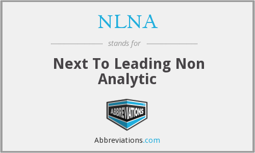 NLNA - Next To Leading Non Analytic