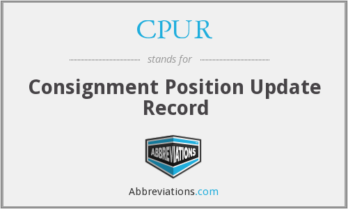 CPUR - Consignment Position Update Record