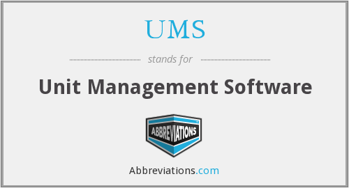 UMS - Unit Management Software