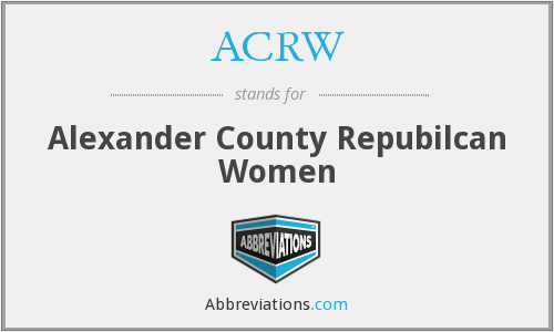 ACRW - Alexander County Repubilcan Women