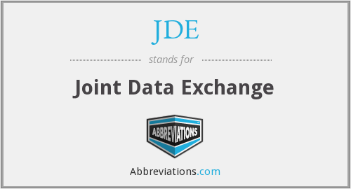 JDE - Joint Data Exchange