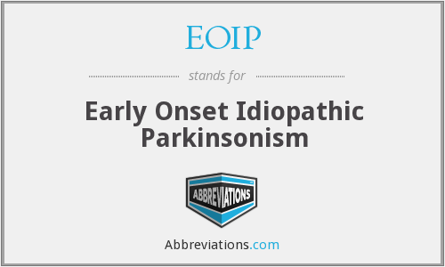 EOIP - Early Onset Idiopathic Parkinsonism
