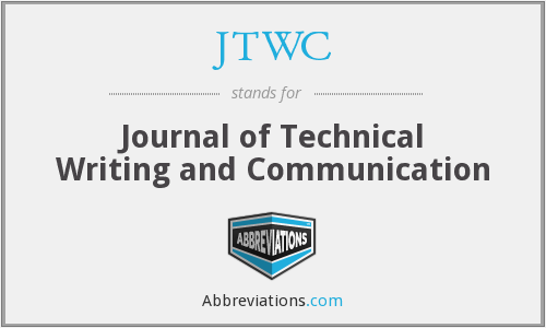 JTWC - Journal of Technical Writing and Communication