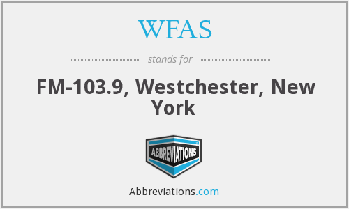 WFAS - FM-103.9, Westchester, New York