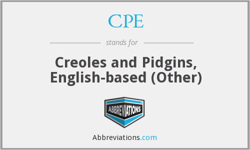 CPE - Creoles and Pidgins, English-based (Other)