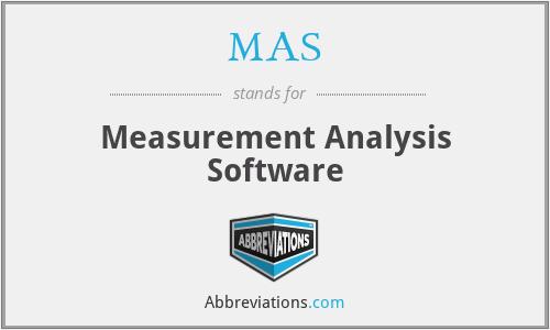 MAS - Measurement Analysis Software