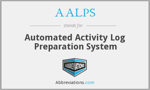 AALPS - Automated Activity Log Preparation System
